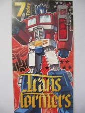Fantastico TRANSFORMERS CON SEGRETO decodificatore 7 oggi 7th Compleanno greeting card