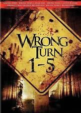 Wrong Turn 1-5 Set (DVD, 2014, 5-Disc Set)