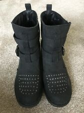 Firetrap Black/Charcoal Grey Ankle Boots Size 8/41