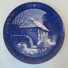 Royal Copenhagen Christmas plate, 1976, Vibeck Water-Mill