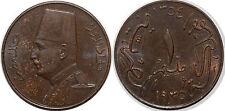 EGYPTE   10 MILLIEMES 1935 KM#347 XF+++