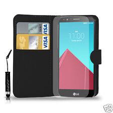 Leather Wallet Flip Book Case Cover For LG G2/G3/G4 MODELS & Film & Mini Pen