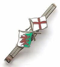 Galles/Angleterre amitié émaillé Avec écussons Pince À Cravate (N129)