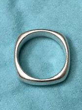 Tiffany & Co. 925 Sterling Silver Square Cushion Band Ring Size 8