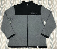Fanatics Minnesota United FC MLS Soccer Mens Full Zip Fleece Jacket Gray Sz L/XL