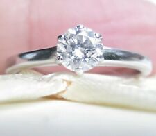 Valuation$2350 Genuine 0.48ct Diamond Ring 18K White Gold