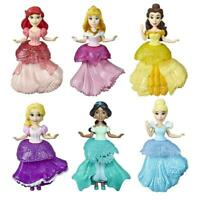 Disney Princess Dolls, Set of 6 with 6 Royal Clips Fashions, One-Clip Dresses