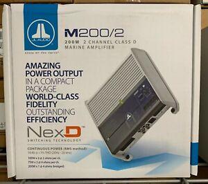 JL Audio M200/2 Marine 2-Channel Amplifier 200 Watts RMS Class D JL Audio Amp