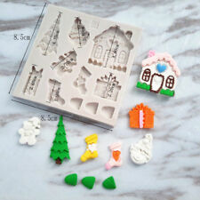 Silicone Sugar Craft Molds Cake Decorating Clay Tool Xmas Chocolate Soap Moulds