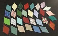 Star Diamond Quilt Patches  31 Vintage Fabrics Paper Backed Calico stitch