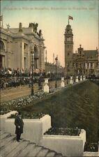 1910 Expo Bruxelles Palais de la Ville de Bruxelles Postcard