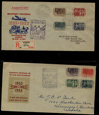 Netherlands 332-339 on 2 cachet first day covers Kel0730