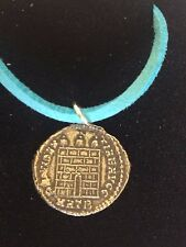 "Constantine Coin WC26 Made From Fine English Pewter On 18"" Blue Cord Necklace"
