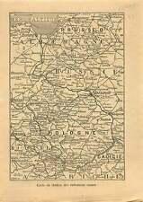 WWI Map Carte Russia Operations Poland Warsaw Galicia Austria 1914 ILLUSTRATION