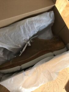 Clarks Mens Trikeyon Mix Tan Leather Shoes Size 91/2G Brand New In Box