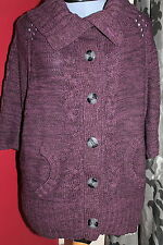 E-vie Acrylic Patternless Cardigans for Women
