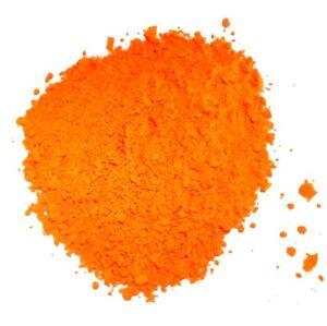 Pigment FLUORESCENT ORANGE à mélanger aux résines époxy, PU, vernis etc.