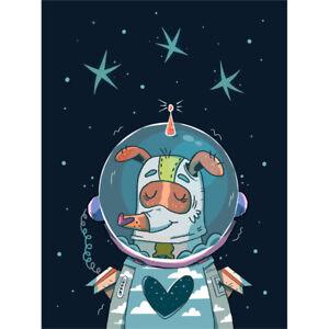 Laika Russian Space Dog Canvas Art Print