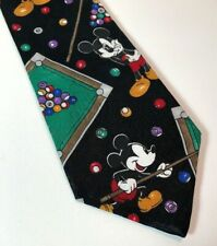 Mickey Mouse Mickey Unlimited Tie Disney Necktie Billiard Playing Pool Italy