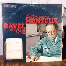 Monteux Ravel Ma Mere L'Oye Bolero LP Philips Stereo VG+