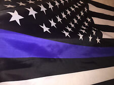 3x5 Blue Lives Matter Flag Usa Solar America Law Enforcement