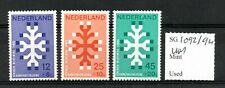 Netherlands 1969 Queen Wilhelmina Anniversary set Sg1092/94 Mnh