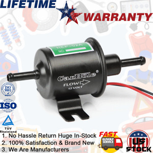 12V Black Electric Upgraded Fuel Pump Low/High Pressure Bolt Wire 4-7PSI HEP-02A