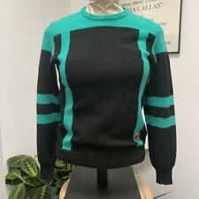 Vintage Green & Black Striped Anba of Australia Sweater
