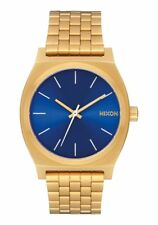 *BRAND NEW* NIXON WATCH THE TIME TELLER ALL GOLD / BLUE SUNRAY A0452735 NIB!