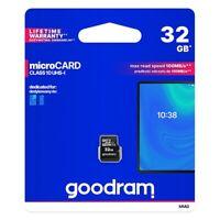 GOODRAM Micro SD Memory Card Scheda Memoria 16 32 64 GB Classe 10 UHS-I 100 MB/s