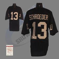 Oakland Raiders, Jay Schroeder signed Custom Pro Style Jersey (BLK) w/JSA