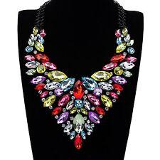 Fashion Party Jewelry Colorful Choker Chunky Bib Statement Pendant Necklace New