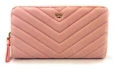 Juicy Couture Black Label Women's Zip Around Wallet Pink Velour $228 MSRP NWT