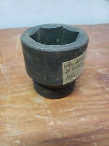 Wright Tools 1'' Drive 6 Point Shallow Impact Socket 1-5/8'' USA 8852 NOS