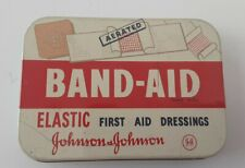 Vintage Band-Aid Elastic First Aid Dressings &  Plasters Tin - Johnson & Johnson