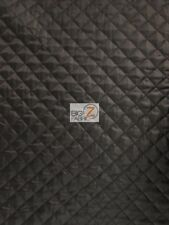 """QUILTED POLYESTER BATTING FABRIC - Black - 58""""/60"""" WIDTH SOLD BY THE YARD"""