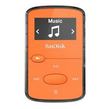SanDisk Clip Jam 8GB MP3 Player Orange With Lcd New Uk SDMX26-008G-G46O