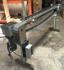 "Stainless Steel Sanitary Conveyor   4"" x 77""."