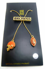 "Cleveland Browns Gold  28"" Bolero Logo Necklace - NFL Licensed Jewelry Lariat"
