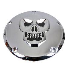 Verchromter Kupplungsdeckel mit Totenkopf Motiv für Harley Davidson Twin Cam