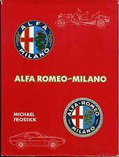 ALFA ROMEO-MILANO, FROSTICK, DALTON WATSON, NEW 1976 REVISED HARDBOUND CAR BOOK