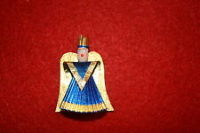 Nürnberger Rauschgoldengel - blau 5 cm