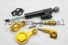 Bracket Stabilizer Steering Damper for Yamaha R6 06-14 / R1 09-12 Black/Gold