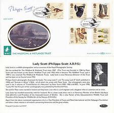 12 MARCH 1996 WILDFOWL AND WETLANDS BENHAM BLCS 114 SIGNED BY LADY SCOTT FDC SHS