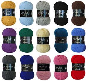 CYGNET CHUNKY Wool Acrylic Knitting Yarn 100g - ALL COLOURS AVAILABLE