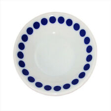 """4 PCS. Japanese 3.5""""D Porcelain Blue Dots Sushi Soy Sauce Dipping Plate Dishes"""