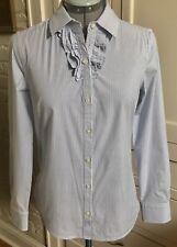 Banana Republic Women's Blue & White Striped Button Up Blouse Shirt Top Size S