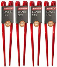 4 x Typhoon Rookie Chopsticks 20cm Easy Use Training Sushi Chinese Food Red Pair