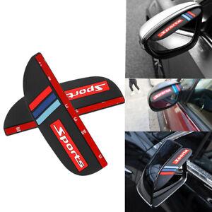 2x Car SUV Rear View Side Mirror Rain Board Eyebrow Guard Sun Visor Accessories