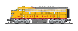 3815 Broadway Limited N-SCALE EMD F7A, UP 1468, Yellow & Gray, Aluminum Trucks